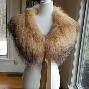 Saks Fifth Avenue Red Fox Fur Stole